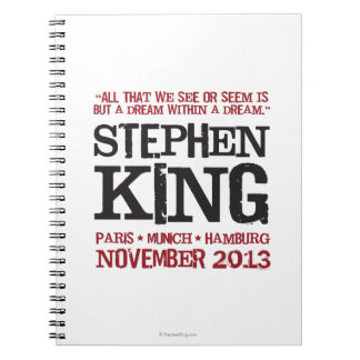 Stephen King's Euro Tour Spiral Notebook