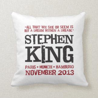 Stephen King's Euro Tour Throw Pillow