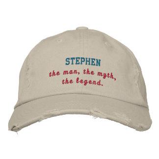 Stephen la leyenda gorro bordado