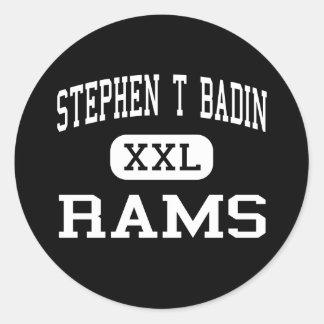 Stephen T Badin - espolones - alto - Hamilton Ohio Pegatina Redonda