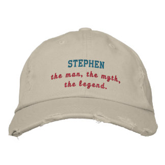 Stephen The Legend Embroidered Baseball Cap