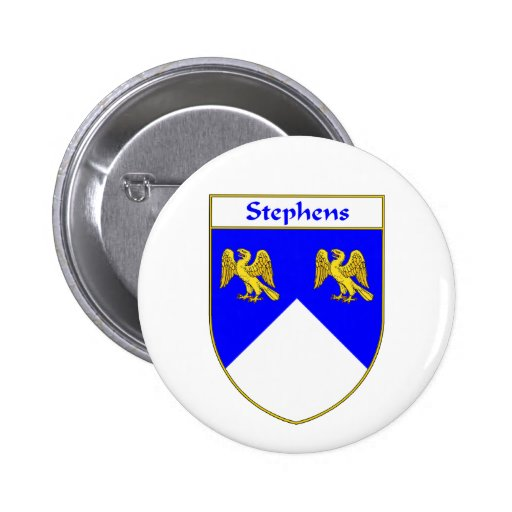 Stephens Coat of Arms/Family Crest Pinback Buttons