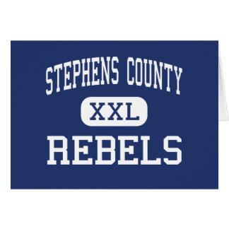 Stephens County Rebels Middle Eastanollee Greeting Cards