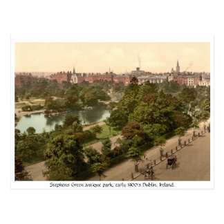 Stephens Green, antique Dublin park Post Cards