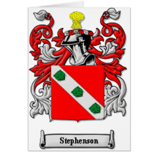 Stephenson Family Coat of Arms Card