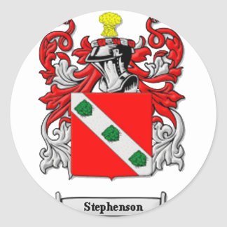 Stephenson Family Coat of Arms Classic Round Sticker