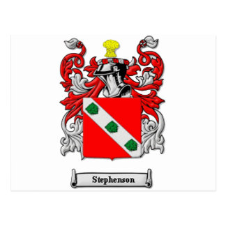 Stephenson Family Coat of Arms Postcard