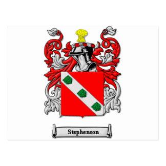Stephenson Family Coat of Arms Postcard