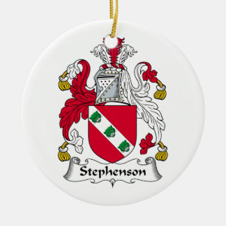 Stephenson Family Crest Double-Sided Ceramic Round Christmas Ornament