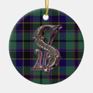 Stephenson Plaid Monogram ornament