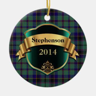 Stephenson Tartan Plaid Custom ornament