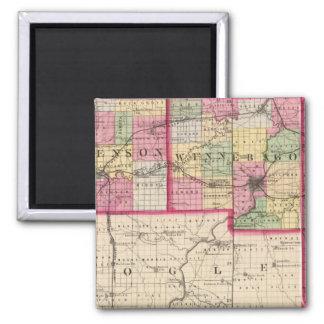 Stephenson, Winnebago, Boone counties Fridge Magnet