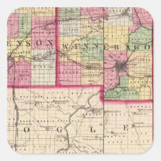 Stephenson, Winnebago, Boone counties Square Sticker