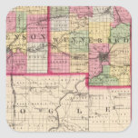 Stephenson, Winnebago, condados de Boone Pegatina Cuadrada