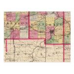 Stephenson, Winnebago, condados de Boone Tarjeta Postal