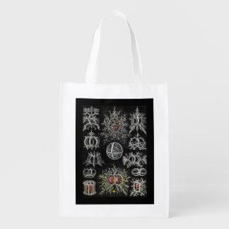 Stephoidea on Black Background Grocery Bag
