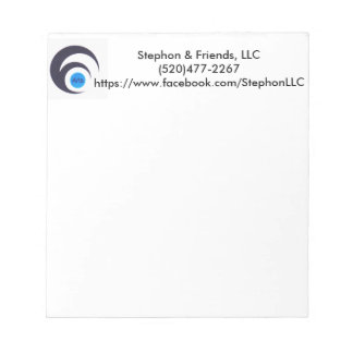 Stephon & Friends Old Logo Note Pad