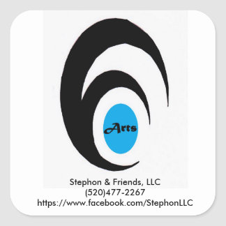 Stephon & Friends Old Logo Square Sticker