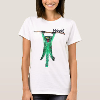 Steph's Green Cat Branch Hang Out T-Shirt