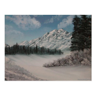 Steph's Snowy Mountain Painting Post Card