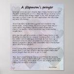 Stepmom Prayer poster 8x10 - no bio kids