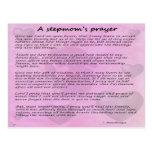 Stepmom's prayer version 2 postcard