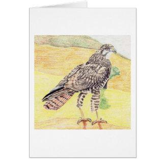 Steppe Buzzard Card