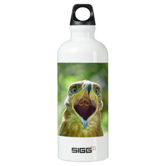 Steppe Eagle Head 001 2.1 Aluminum Water Bottle