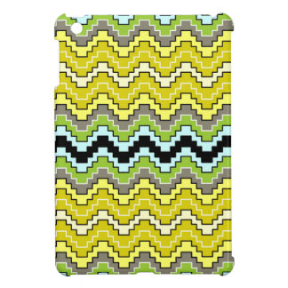 Stepped Chevron in olive and moss iPad Mini case
