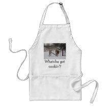Stepper In The Snow Adult Apron