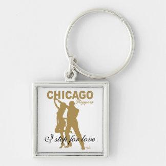 Steppers de Chicago - paso de I para la silueta de Llaveros Personalizados