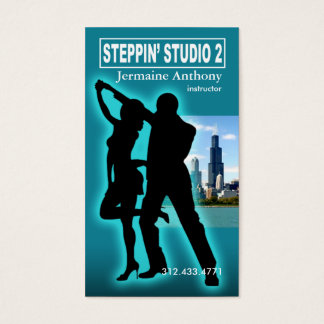 Steppin' Chicago Style Urban Dance Instructor Business Card