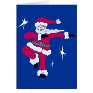 Steppin Santa solo Solid Card