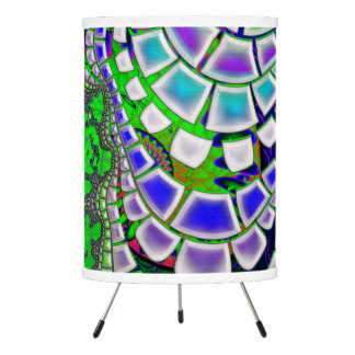Steppin Stone Psychedelic 3D Abstract Tripod Lamp