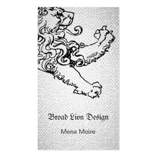 Stepping Lion Textured Look Business Card