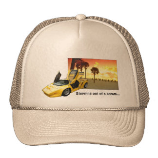 Stepping out of a dream... trucker hat