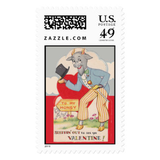 Stepping out to see you Vintage Valentine Postage