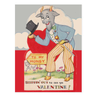 Stepping out to see you Vintage Valentine Postcards