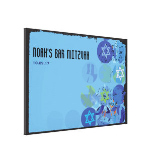 STEPPING STONES Bar Mitzvah Mitzvah Sign-In Board Canvas Print