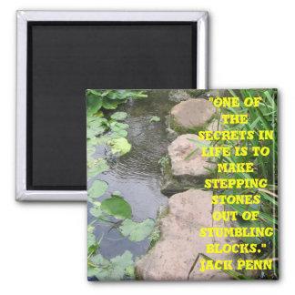 stepping stones from stumbling blocks magnet