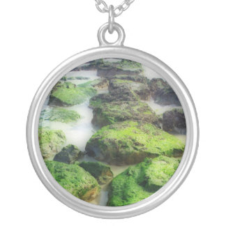 Stepping Stones Round Pendant Necklace