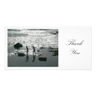 Stepping Stones - Thank You Personalized Photo Card