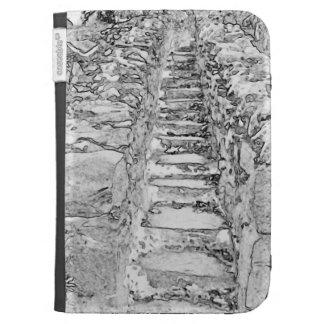 Steps. Fabric Kindle Case