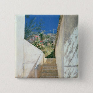 Steps in a Garden, Algeria, 1883 Pinback Button