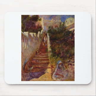 Steps in Algiers by Pierre-Auguste Renoir Mouse Pad