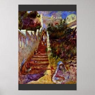 Steps In Algiers. By Pierre-Auguste Renoir Print