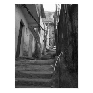 Steps in the biggest favela in Rio De Janeiro Postcard