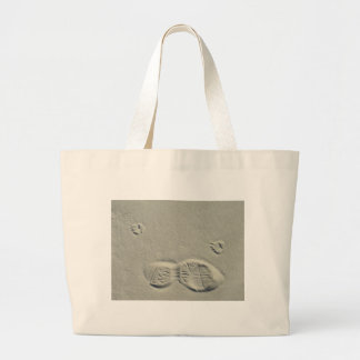 Steps in the sand tote bags
