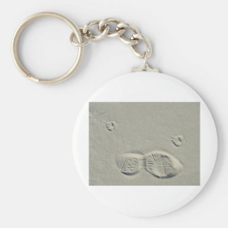 Steps in the sand keychain
