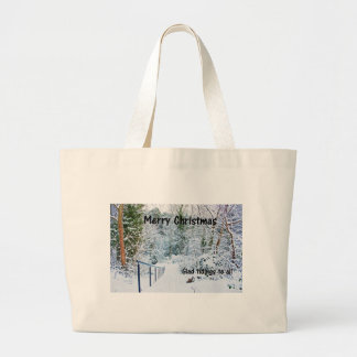 Steps in the Snow Large Tote Bag